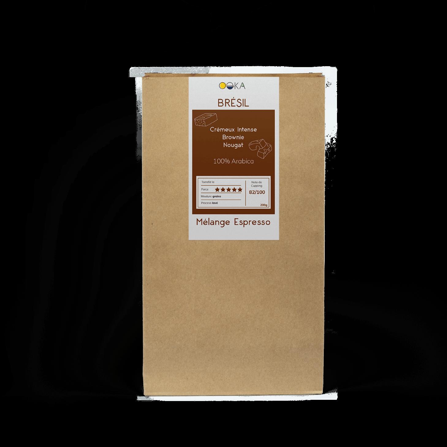 cafés grains Mélange Espresso BRÉSIL